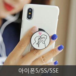 와프 아이폰5/5S/5SE WQA 커플링 그립톡케이스