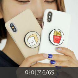 와프 아이폰6/6S WPQ 치즈피자 그립톡케이스