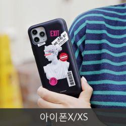 와프 아이폰X/XS WPK 석고상 카드범퍼케이스