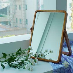 사각 우드 원목 탁상 거울