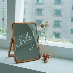사각 우드 원목 탁상 거울 + 화이트마카펜
