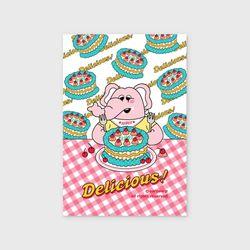kkikki cherry cake(엽서)