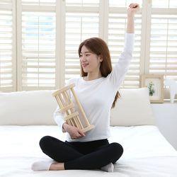 항균 편백나무 목 케어 베개 목마사지 베개