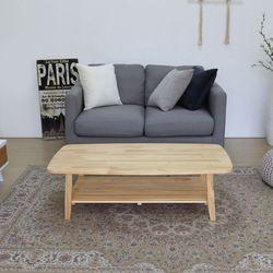 포메리트 소나무 원목 접이식테이블 1100 선반형