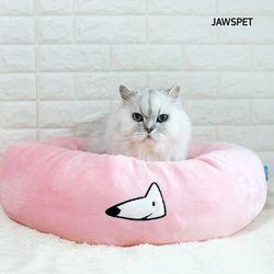 베이직생활방석 핑크 강아지방석 도넛방석 고양이방석