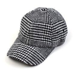 Glen Check Wool Ballcap 체크볼캡