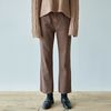 STRAIGHT MOOD COTTON PANTS [BROWN]