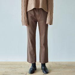 STRAIGHT MOOD COTTON PANTS [BROWN]