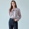 SATIN FRILL COLLAR BL [PINK GRAY]