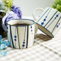 블루 레인 머그잔 커피잔