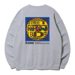 크루클린 아드니크 패션 오버핏 맨투맨 티셔츠 MRL991 (3 Color)