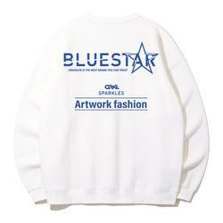크루클린 블루스타 오버핏 맨투맨 티셔츠 MRL998 (4 Color)