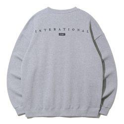 크루클린 인터내셔널 오버핏 맨투맨 티셔츠 MRL778 (2 Color)