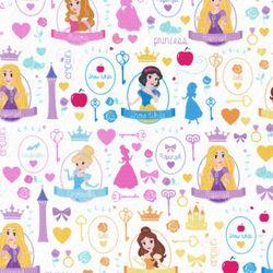 디즈니 리폼 패브릭 스티커 - 아이엠 프린세스 A4