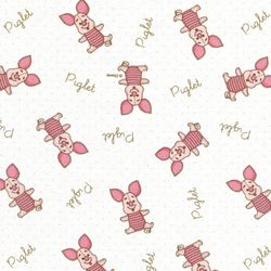 디즈니 리폼 패브릭 스티커 - 베이비돌 피글렛 A4
