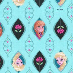 디즈니 리폼 패브릭 스티커 - 겨울왕국 프로즌 프레임 A4