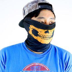 할로윈 바람막이 마스크 (오렌지 해골)