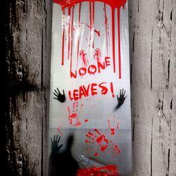할로윈 공포 현수막 포스터 200cm (NO ONE LEAVES)