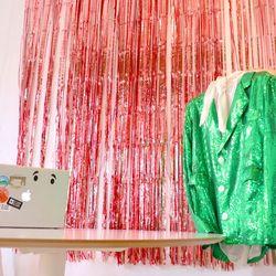은박 수술 파티커튼 (1m x 2m) - 로즈골드