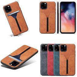 아이폰11 pro max 슬림 가죽 밴드 카드수납 폰케이스
