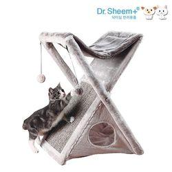 닥터심 고양이 접이식 스크래쳐 하우스 접이식수납 숨숨집