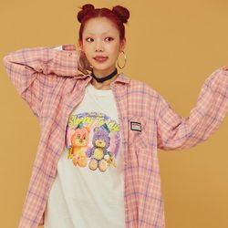 NEONMOON 20FW Pink Check Shirt