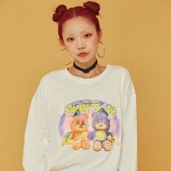 NEONMOON 20FW Teddy White T-Shirt