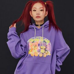 NEONMOON 20FW Teddy Purple Hood T-Shirt