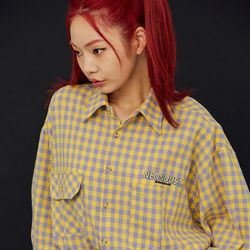NEONDUST 20FW Yellow Check Shirt