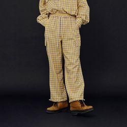 NEONDUST 20FW Yellow Check Pants