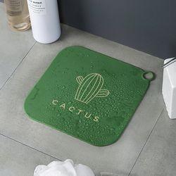 선인장 화장실 욕실 배수구 하수구 실리콘 매트