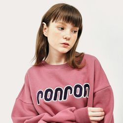 BOUCLE POINT SWEATSHIRT DUSTY PINK