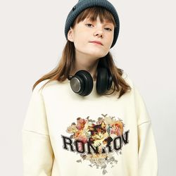 FLOWER CAT SWEATSHIRT CREAM