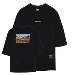 시티뷰 서울 7부 티셔츠 블랙