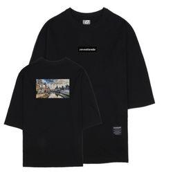 시티뷰 암스테르담 7부 티셔츠 블랙