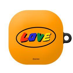 몬드몬드 LOVE orange 갤럭시 버즈 라이브 케이스 키링 포함