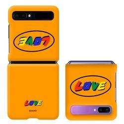 몬드몬드 LOVE orange 갤럭시 Z 플립 2 5g 공용 케이스  커버