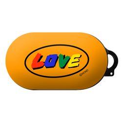 몬드몬드 LOVE orange 갤럭시 버즈 플러스 케이스 키링 포함