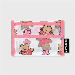 Blossom bear heart-pink(PVC 카드지갑)