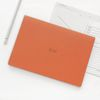 21 Monthly planner orange navy