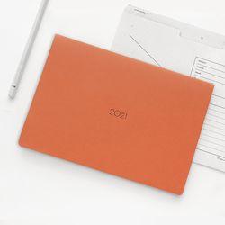 21 Monthly planner orange navy