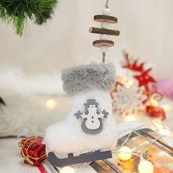 화이트스케이트양말 20cm 크리스마스 장식 TROMCG