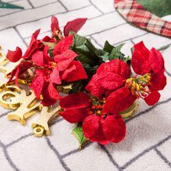 베이직포인꽃부쉬 중 33cm 크리스마스 조화 TRFART