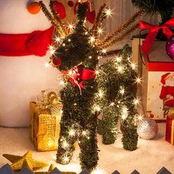그린사슴 45cm 크리스마스 장식 인형 소품 TROMCG
