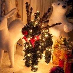 그린사슴 35cm 크리스마스 장식 인형 소품 TROMCG