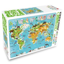 세계지도 150피스 퍼즐 애니멀 월드맵