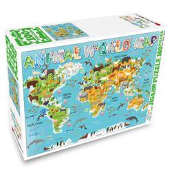 세계지도 100피스 퍼즐 애니멀 월드맵