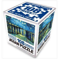 명화 직소퍼즐 108pcs: 별이 흐르는 하늘의 론강 퍼즐
