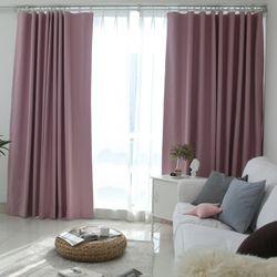 100암막프라이머커튼 핑크 170X230