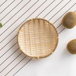 대나무 미니 바구니 라탄 채반